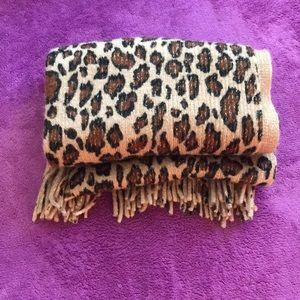"83"" long leopard gold scarf 🧣"